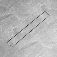 Canaletta di drenaggio per doccia 830x140 mm Acciaio Inox