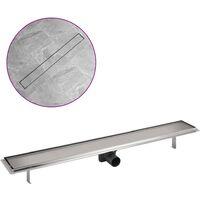 Canaletta di drenaggio per doccia 930x140 mm Acciaio Inox