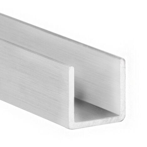 """main image of """"Canalino a U, Alluminio, Grezzo, 1000mm di lunghezza. Marchio REI"""""""