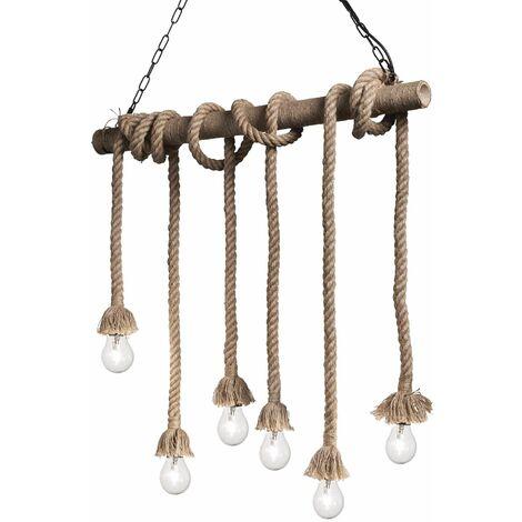 "main image of ""CANAPA Rope Pendant Lamp 6 bulbs"""