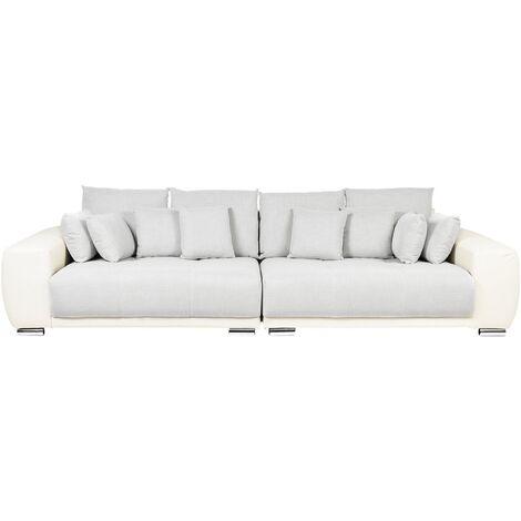 Canapé 4 places en tissu beige TORPO