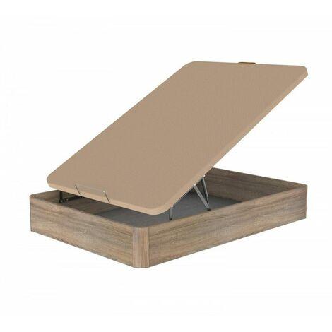 Canape Abatible Madera 150x190 Blanco + colchon LIBRA + almohada de regalo