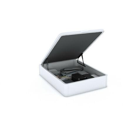 Canapé Abatible Wood Gran capacidad Blanco