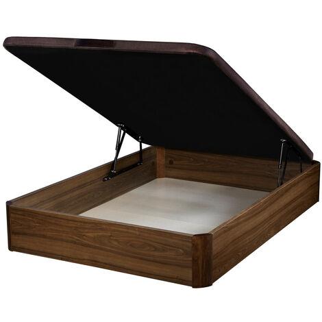 Canapé Abatible Wood Gran capacidad Nogal
