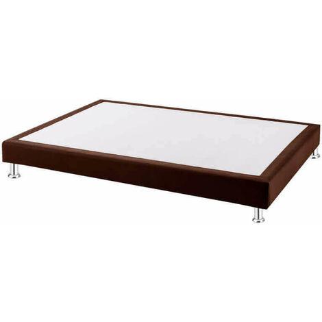 Canapé colchón fijo láminas tela poli-piel altura 16 cm