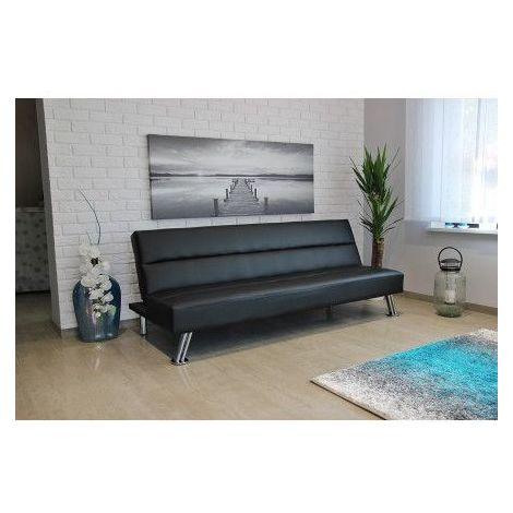 Canapé convertible ANCONA noir - Noir