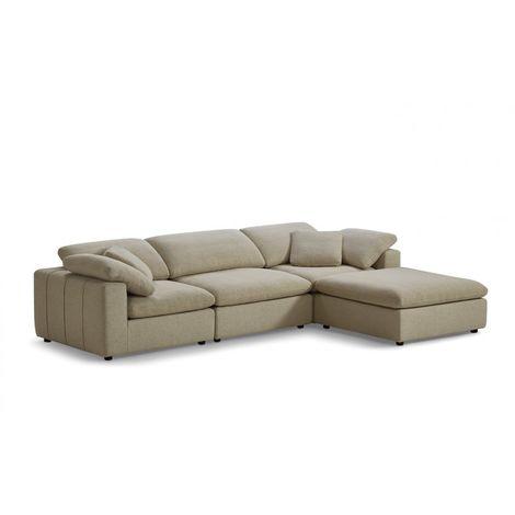 Canapé d'angle beige composable plume - NUAGE ...