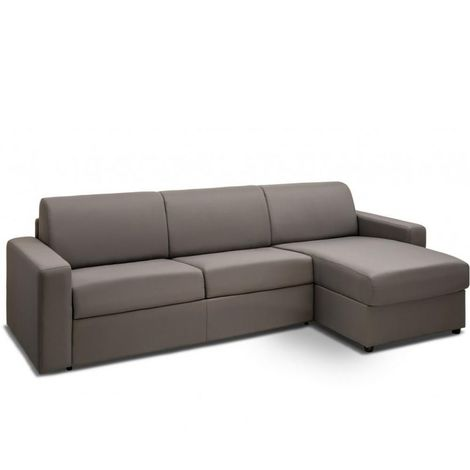 Canapé d'angle convertible NIGHT gris silver rapido couchage 140 cm