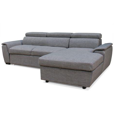 Canapé d'angle convertible Tinda Tissu Taupe