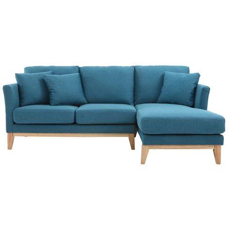 Canapé d'angle droit scandinave déhoussable OSLO