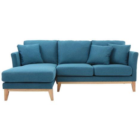 Canapé d'angle gauche scandinave en tissu déhoussable OSLO