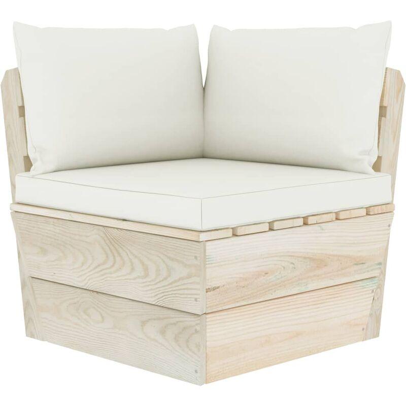 Canapé d'angle palette de jardin avec coussins Épicéa imprégné4924-A
