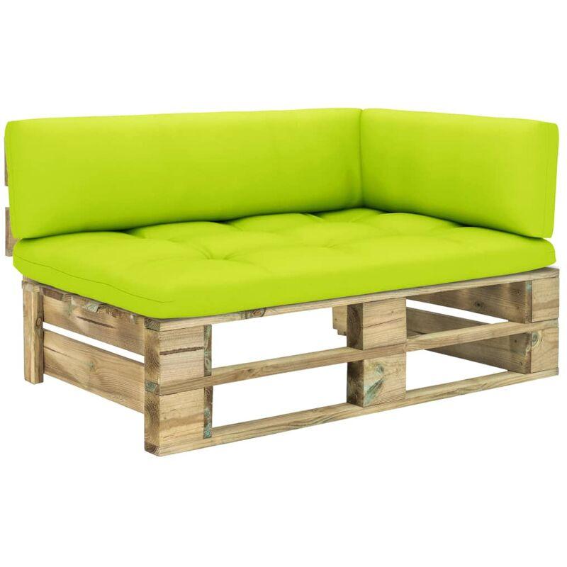 Canapé d'angle palette de jardin Vert Bois de pin imprégné5315-A