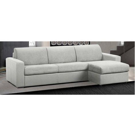 Canapé d'angle réversible RAPIDO MASTER COUCHAGE 140cm MATELAS 18CM polyuréthane blanc