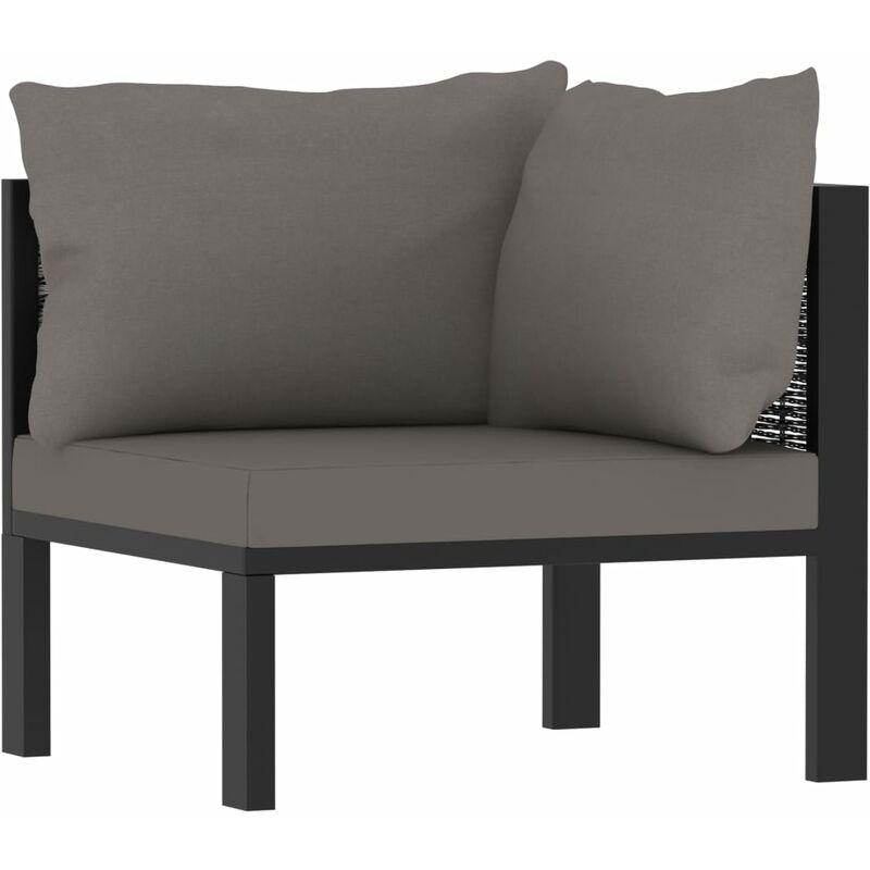 Canapé d'angle sectionnel avec accoudoir gauche Résine tressée