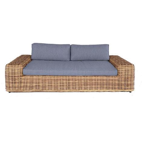 Canapé de jardin (2/3 places) résine tressée - BALI OSIER -