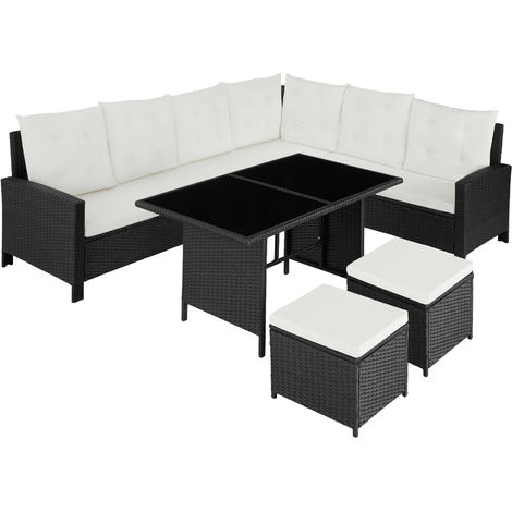 Canapé de jardin BARLETTA modulable - table de jardin, mobilier de jardin, salon jardin