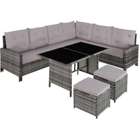 Canapé de jardin BARLETTA modulable, variante 2 - table de jardin, mobilier de jardin, fauteuil de jardin