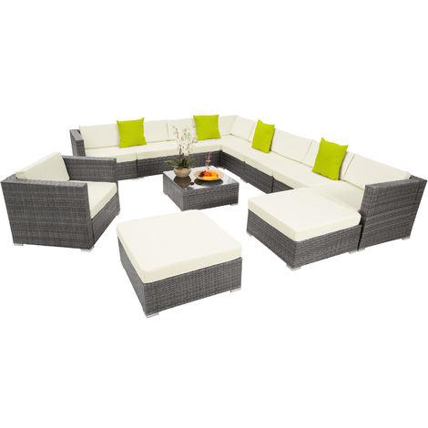 Canapé de jardin LAS VEGAS modulable 10 places