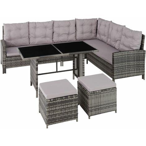 Canapé de jardin meuble modulable gris