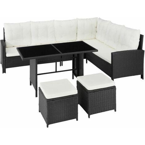 Canapé de jardin meuble modulable noir