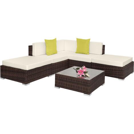 Canapé de jardin PARIS modulable 5 places, variante 2 - table de jardin, mobilier de jardin, fauteuil de jardin