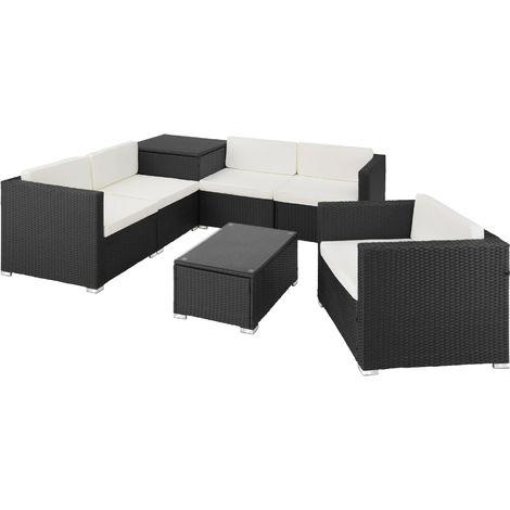 Canapé de jardin PISE 5 places avec coffre de rangement - table de jardin, mobilier de jardin, fauteuil de jardin
