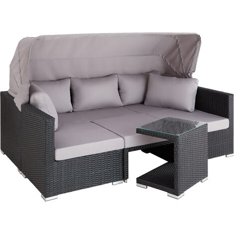 Canapé de jardin SAINT MARIN modulable - mobilier de jardin, salon jardin, salon de jardin resine