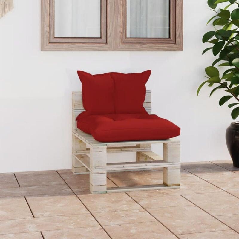 Canape de milieu palette de jardin avec coussins Bois de pin