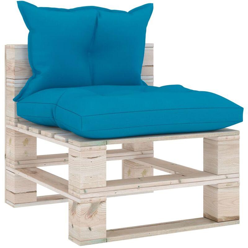 Canapé de milieu palette de jardin avec coussins Bois de pin5283-A