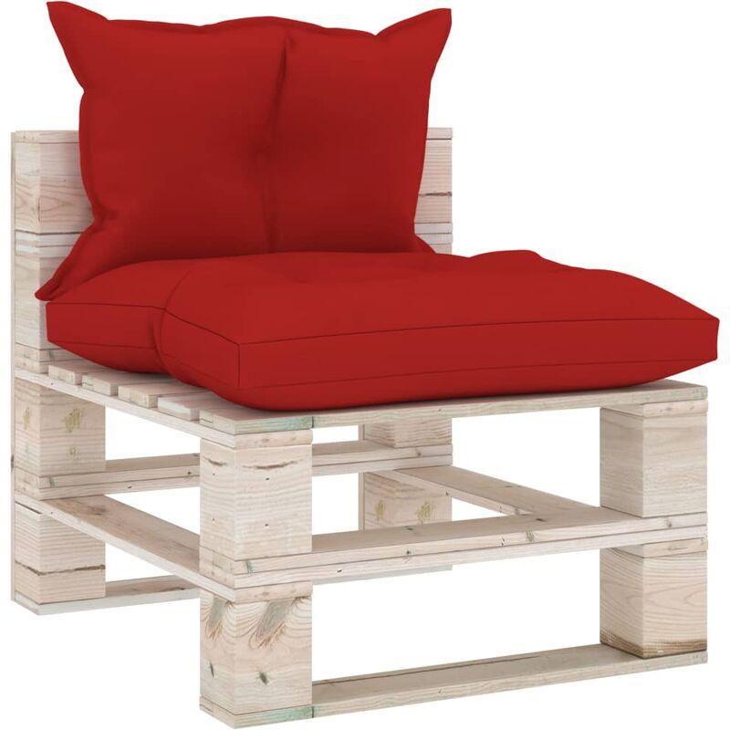 Canapé de milieu palette de jardin avec coussins Bois de pin5284-A