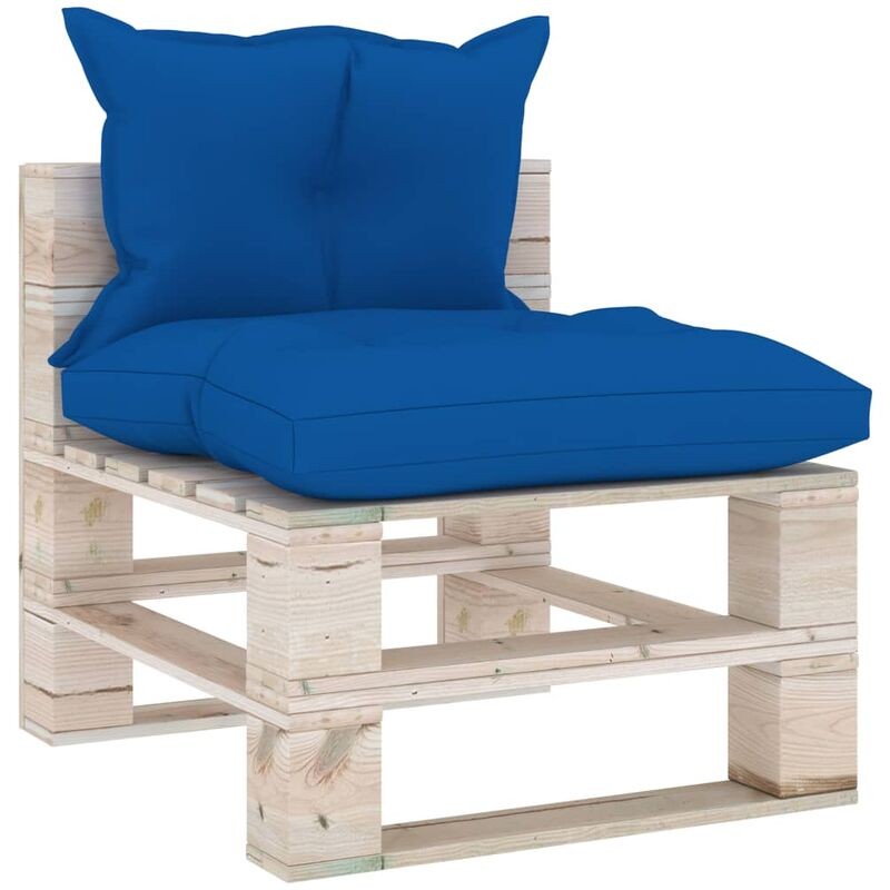 Canapé de milieu palette de jardin avec coussins Bois de pin5285-A