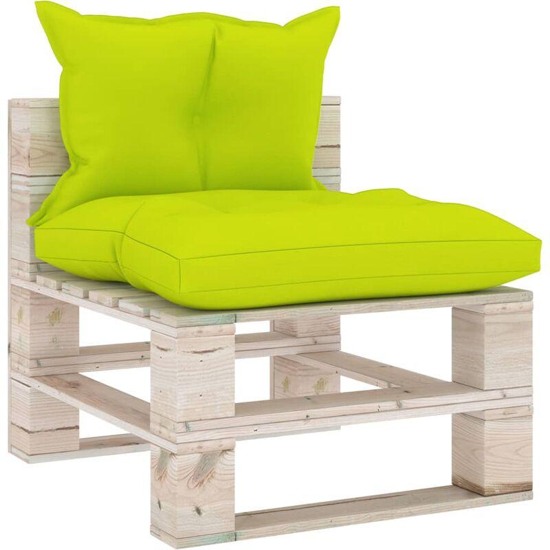 Canapé de milieu palette de jardin avec coussins Bois de pin5286-A