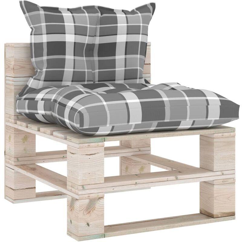 Canapé de milieu palette de jardin avec coussins Bois de pin5288-A
