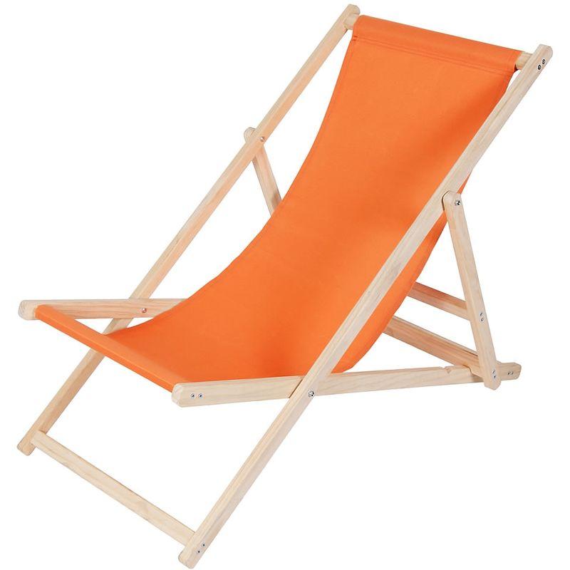 Canapé de plage, divan de jardin chaise longue de jardin en bois divan pliant orange