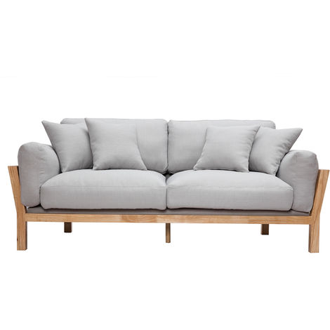 Canapé design 3 places déhoussable bois KYO