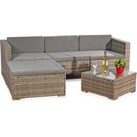 Canapé en rotin, sièges gris, mobilier de jardin, Salon, ensemble de jardin  Poly