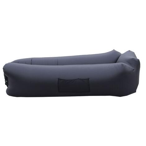 Canape Gonflable Rapide D'Exterieur Ultra-Leger, Lit Gonflable Pliable Portable, Lit De Sac De Couchage Paresseux, 260 * 70Cm, Noir