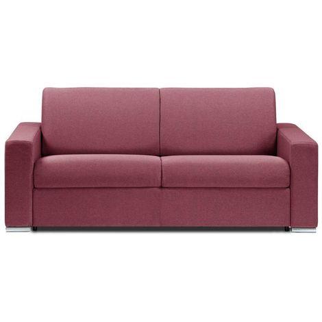Canapé lit DREAMER EXPRESS sommier lattes 140cm matelas 16cm tweed rouge - rouge