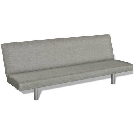 Canapé-lit Gris Polyester