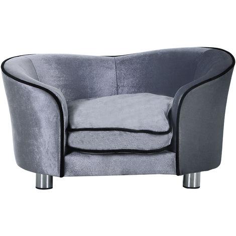 canap lit pour chien chat canap animaux avec accoudoir et dossier 69x49x38cm. Black Bedroom Furniture Sets. Home Design Ideas