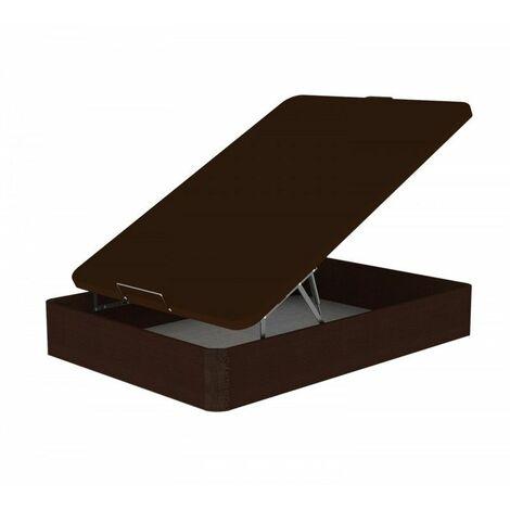 Canape Madera 090x190 30mm wengue patas macizas de haya - Wengue