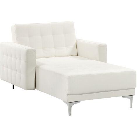 Canapé méridienne moderne en tissu élégant