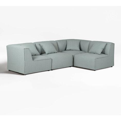 Canapé modulable 4 places Aremy SKLUM Polyester - Céladon