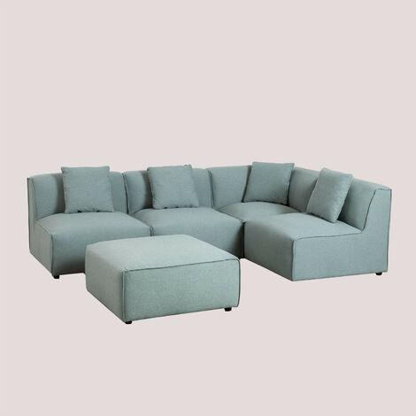 Canapé modulable 4 places avec Pouf Aremy SKLUM Polyester - Céladon