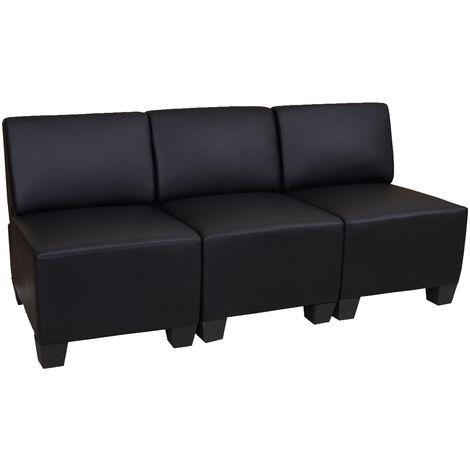 Canapé modulaire à 3 places Lyon, similicuir