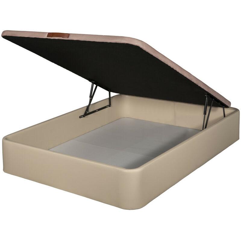 Canapé polipiel apertura frontal color Beige 80x180 - Motaje incluido