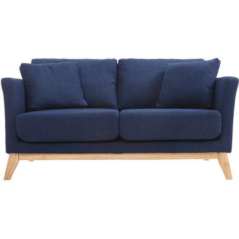 Canapé scandinave 2 places déhoussable pieds bois OSLO