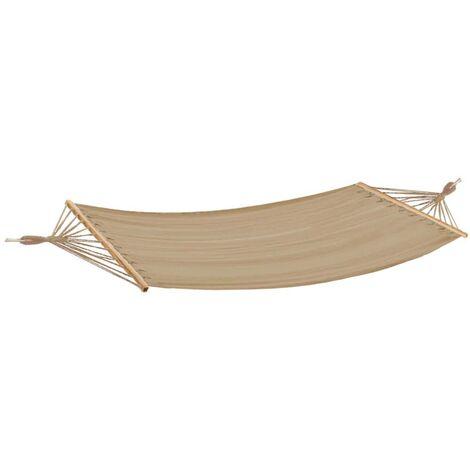 Canapé suspendu bois mat surface canapé salon de jardin terrasse beige L 280 cm 100kg Harms 507283