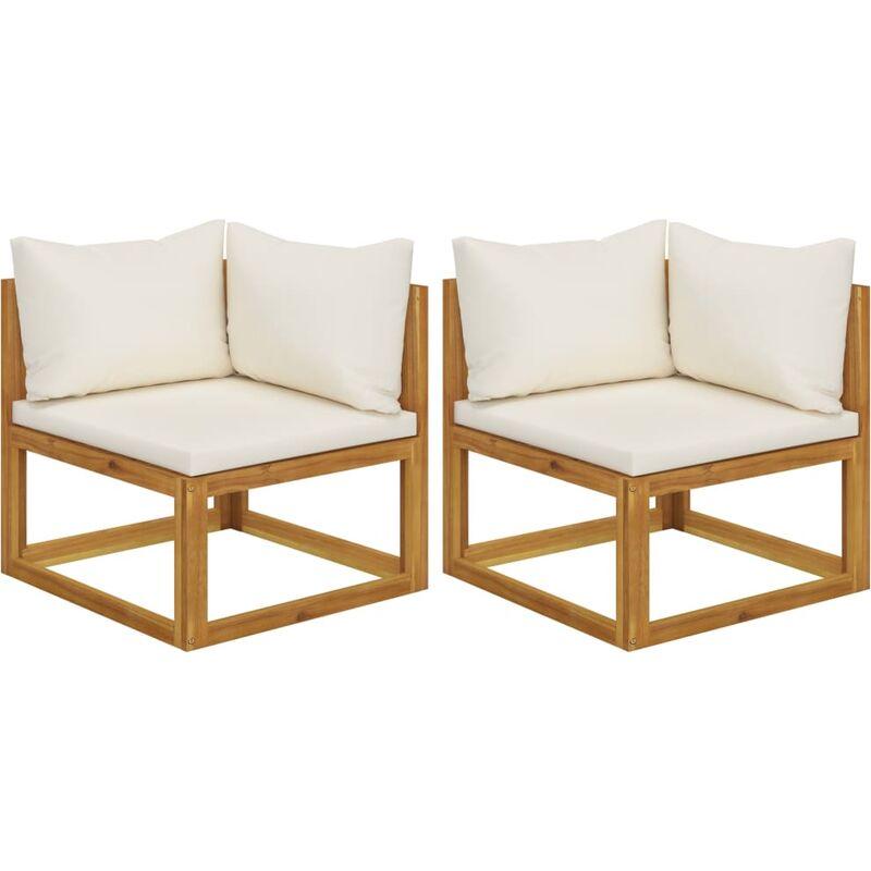 Youthup - Canapés d'angle sectionnels 2 pcs avec coussins Blanc crème